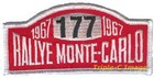 Rallye Monte Carlo embroidered patch