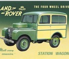 SIGN - LAND ROVER STATION WAGON