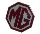 MG OCTAGON LAPEL PIN - WHITE/RED