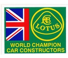DECAL - LOTUS WORLD CHAMPIONS (STK-10)