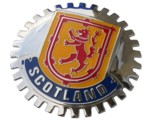 SCOTLAND CAR GRILLE BADGE