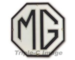 MG Enamel Sign