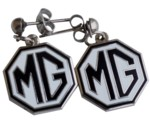 EARRINGS MG BLACK/WHITE