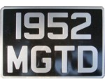 British style license plate
