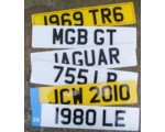 Acrylic British License Plates