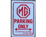 MG Parking sign