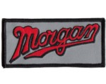 MORGAN SCRIPT EMBROIDERED PATCH