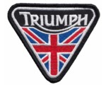 PATCH - TRIUMPH MOTORCYCLE / UNION JACK