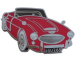 AUSTIN-HEALEY 3000 CUT OUT LAPEL PIN