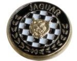 JAGUAR CHEQUERED LAPEL PIN