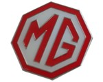 MG LOGO LAPEL PIN RED/WHITE LARGE