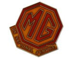 LAPEL PIN - MG ON NATIONAL SERVICE