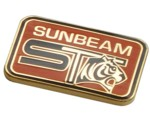 SUNBEAM TIGER LAPEL PIN (RECT)