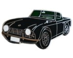TRIUMPH TR4 CAR CUT-OUT LAPEL PIN