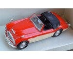 Austin Healey red/creme diecast model