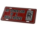 MY OTHER CAR IS A ROLLS LICENSE PLATE