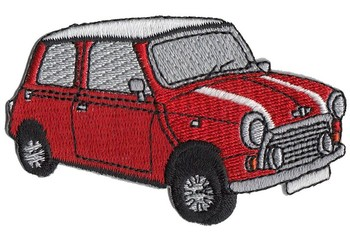 PATCH - MINI CUT-OUT RED CAR (PATCH#37)