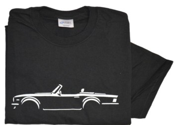 Triumph TR6 side view white on black T-Shirt med - xxl | eBay