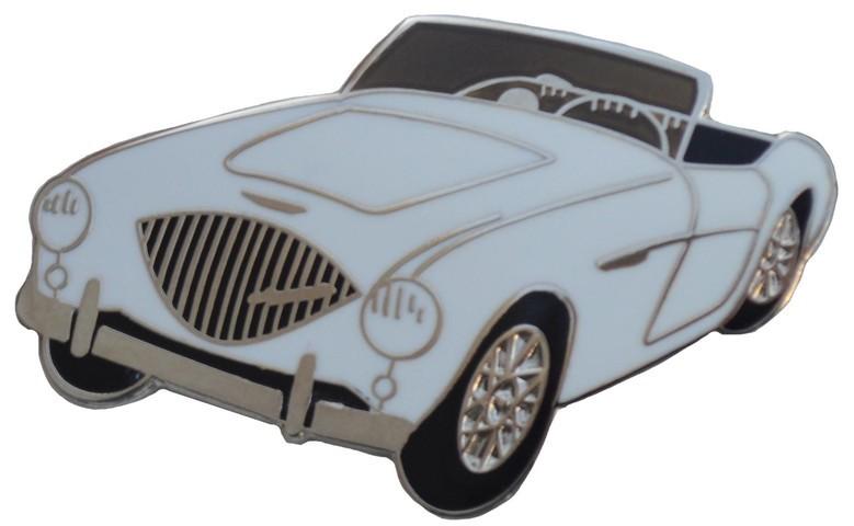 Austin Healey 100//4 car cut out lapel pin Green