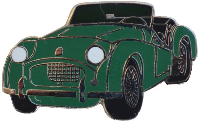cloisonne MG Green lapel pin