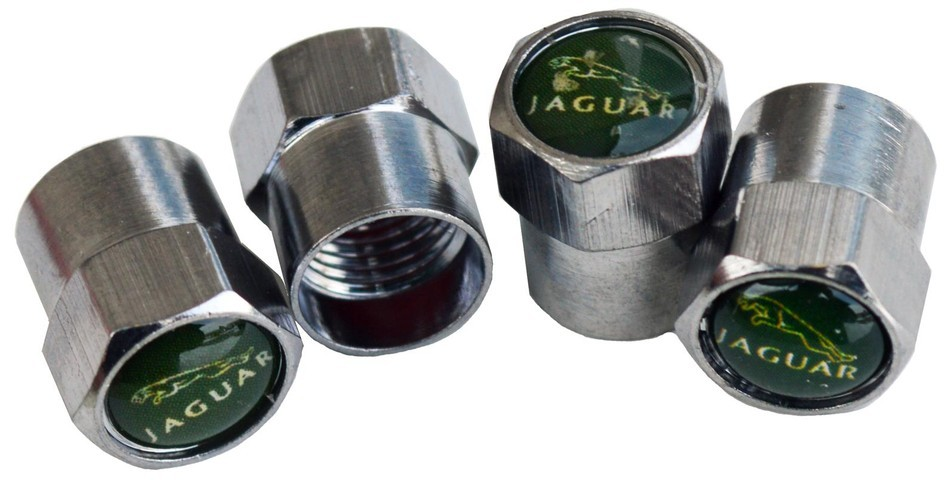 Jaguar valve stem caps