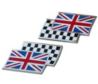 BODY BADGES - UNION JACK CHEQ. FLAG (BB_UJ/CHEQx2)