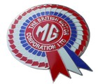 BMC ROSETTE MG GRILLE BADGE