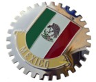 MEXICAN FLAG GRILLE BADGE
