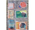 JOSEPH LUCAS 50s STICKER/DECAL SET 6 PIECES