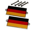GERMAN, GERMANY FLAG METAL BADGES
