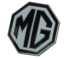 MG OCTAGON LAPEL PIN - WHITE/BLACK (P-MG/WB)