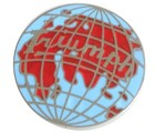 TRIUMPH WORLD (GLOBE) LAPEL PIN