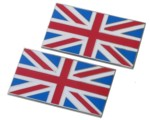 METAL UNION JACK FLAG S/ADHESIVE