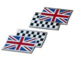BODY BADGES - UNION JACK CHEQ. FLAG