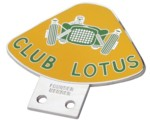 CLUB LOTUS GRILLE BADGE