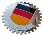 GERMAN FLAG GRILLE BADGE