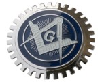 MASONIC CAR GRILLE BADGE