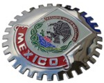 MEXICO CAR GRILLE BADGE