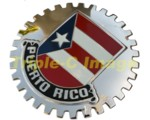 PUERTO RICO CAR GRILLE BADGE