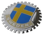 GRILLE BADGE - SWEDISH FLAG