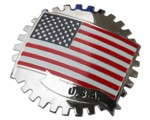 USA STARS AND STRIPES GRILLE BADGE