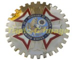 VETERANS OF FOREIGN WARS CAR GRILLE BADGE