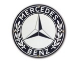 MERCEDES PORCELAIN SIGN