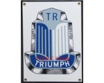 TRIUMPH PORCELAIN SIGN