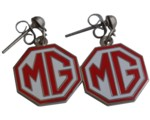 EARRINGS MG RED/WHITE