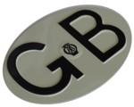 EMBOSSED ENAMELED GB PLATE