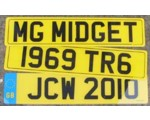 British style License Plate Acylic - Yellow