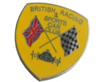 BRITISH RACING SPORTS CAR CLUB LAPEL PIN