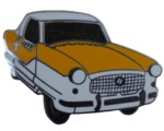 METROPOLITAN CAR CUT OUT LAPEL PIN