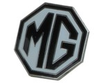 MG OCTAGON LAPEL PIN - WHITE/BLACK